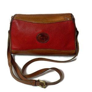 Vintage Dooney & Bourke Red Leather Crossbody Bag